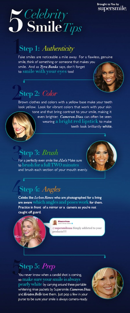 5 Celibrity Smile Tips